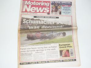 MOTORING NEWS 1997 Oct 29 Euro GP, F3 , F3000, FIA GT
